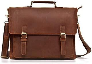 Mens Bag Vintage Leather Diagonal Briefcase Leather Business Computer Bag Men's Shoulder Bag High capacity