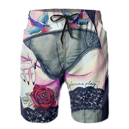 MayBlosom Pantalones cortos de moda para niños cómodos trajes de baño sueltos cortos suaves Shakespeare insultos repertorio