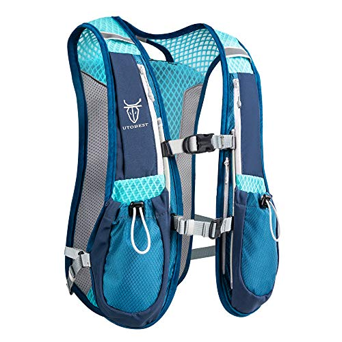 UTOBEST Running Backpacks Lightweight Hydration Pack Functional Running Vest 5.5L(Blue)