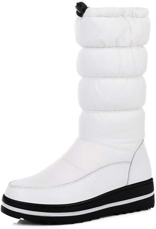 Hy Frauen-Schnee-Aufladungsstiefel-Winter-warme beiläufige Flache Schnee-Aufladungen Winter-Aufladungen Damen-unten warme windundurchlässige im Freien Schnee-Schuhe (Farbe   Weiß, Größe   36)  | Sale Outlet