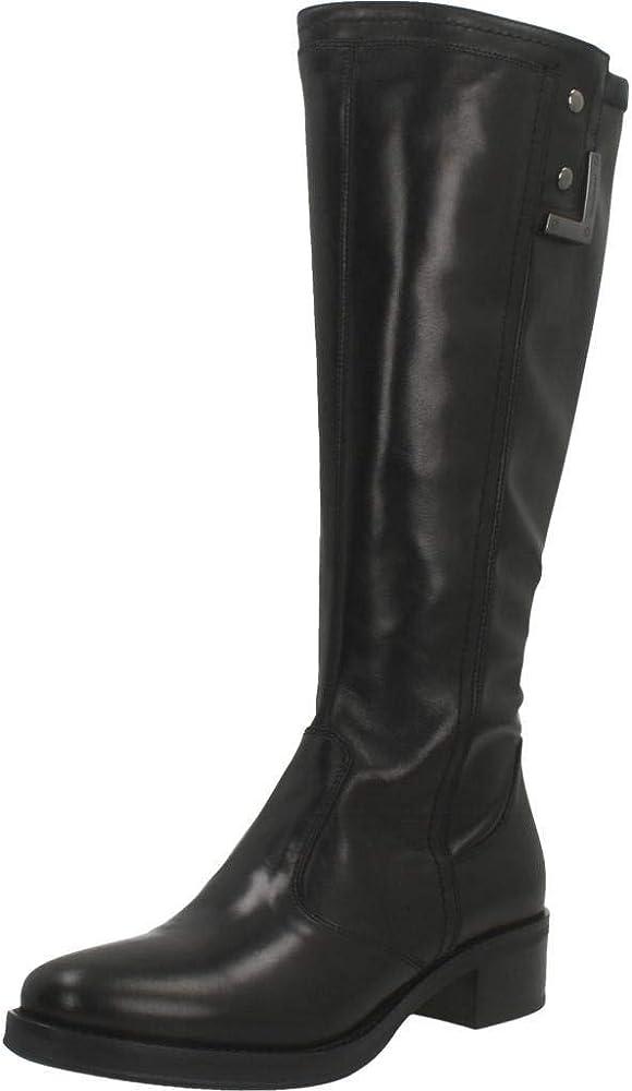 Nero giardini  stivali per donna al ginocchio eleganti in vera pelle A909601D 100