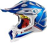 LS2 Motocross-Helm MX 470 Subverter Blau Gr. M