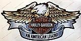 Pegatina con logo Harley Davidson, Águila, efecto 3D. Para depósito o casco.