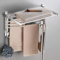 LiKin タオル掛け 洗面所 壁 ステンレス、トイレ キッチン バスルーム タオルバー 5スイングバー 省スペース (Color : Silver, Size : 60cm)