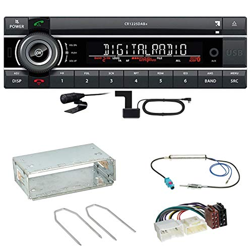Kienzle CR 1225 DAB Digitalradio Bluetooth Autoradio CD USB AUX MP3 DAB+ Einbauset für Mercedes Citan W415