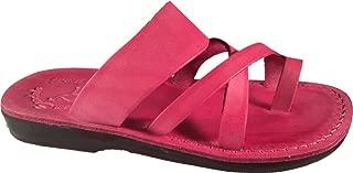 Jerusalem Sandals Women's The Good Shepherd Slide Sandal, Pink,