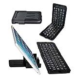 BESTEK 折りたたみ ブルートゥースキーボード FOR iPad 2/3/4,ipad mini,iphone 3/4/5,タブレットPC,スマートフォン スタンド付