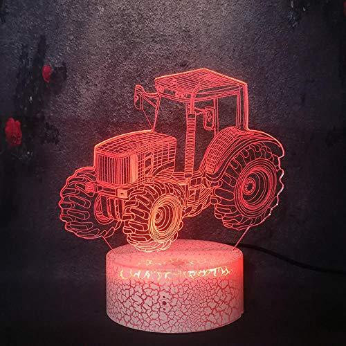 3D-nachtlampje Supercar auto illusie, tafel voor kinderen, geschikt voor de decoratie van het huis, voor vrienden en familie, geschenken, zwart basis afstandsbediening 7 C