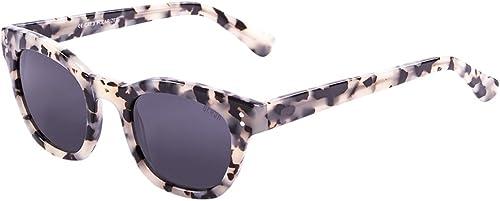 Ocean Sunglasses Santa Cruz Lunettes de Soleil Mixte Adulte, blanc Tortoise Smoke Lens