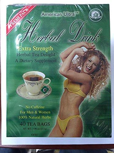 American Ultra Herbal Drink Extra Strength 40 Tea Bags