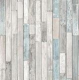 wallpaper sae - Brewster Wallcovering Co FD23273 Barn Board Grey Thin Plank Wallpaper,