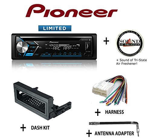 Pioneer DEH-S4010BT CD Receiver + Best Kit BKGMK345 Dash Kit + BHA1858 Harness + PAC BAA4B Antenna Adapter + SOTS Air Freshener