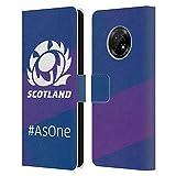 Head Case Designs sous Licence Officielle Scotland Rugby As One Logo 2 Coque en Cuir à Portefeuille...