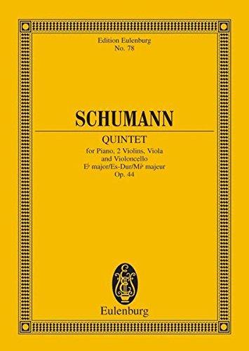 Klavierquintett Es-Dur: op. 44. Klavier, 2 Violinen, Viola und Violoncello. Studienpartitur. (Eulenburg Studienpartituren)