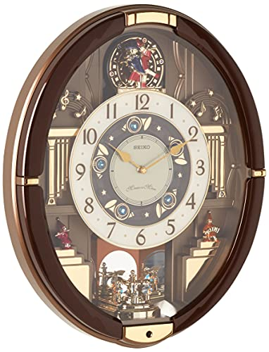SEIKO Summer Symphony Melodies in Motion Clock, Brown