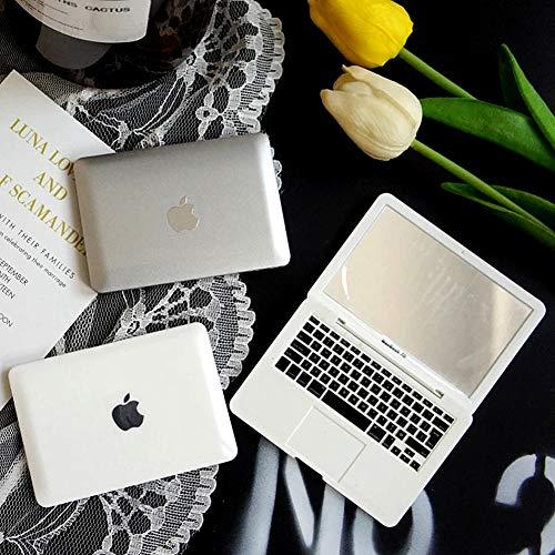 Homyu Makeup Mini Mirror Laptop Cute Pocket Size Mirror Portable Compact for Travel (Silver)