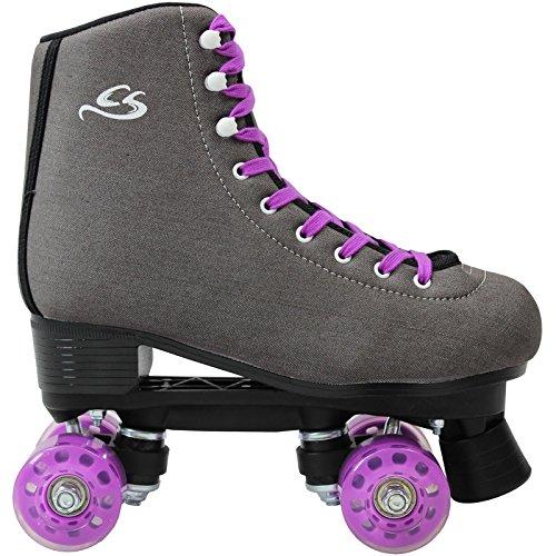 Cox Swain Kinder Rollschuhe -JUMAH- Rollerskates- ABEC5, Colour: Dark Grey, Size: 39