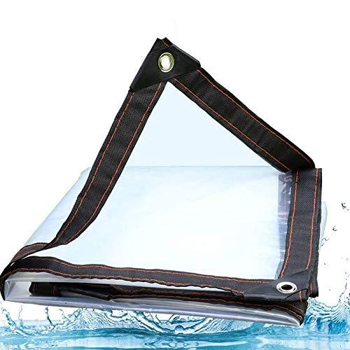 ZHCHL Durchsichtige Plane Wasserdicht 2x9m, Plane Transparent Mit Osen, Gewebeplane Transparent Wasserdicht Wetterfeste Plane, Für Camping Garten Fensterbalkon Regendicht