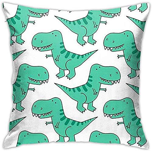 Babydo Pillowcase Cartoon dinosaurus Throw kussensloop, decoratief, kussensloop met ritssluiting, 45 x 45 cm