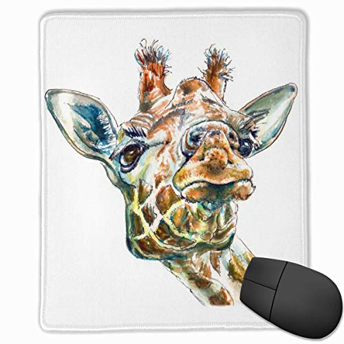 Glattes Mauspad, lustiger Giraffenkopf Mobile Gaming Mousepad Work Mouse Pad Büropad