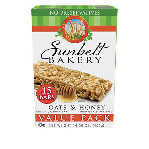 Sunbelt Bakery Oats and Honey Chewy Granola Bars Value Pack (15 Count)