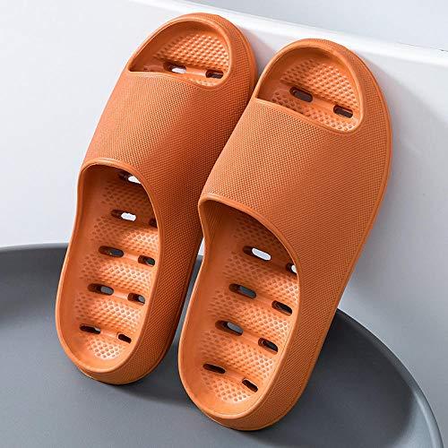 XZDNYDHGX Zapatillas Sandalias Inferiores Suaves,Zapatillas Suaves y cómodas al Aire Libre para Hombres y Mujeres,Diapositivas de Suela Gruesa, Sandalias de Verano, Naranja, EU 39-40