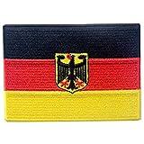 EmbTao Deutsches Wappen Flagge Bestickter Deutschland Eagle Aufnäher zum Aufbügeln/Annähen Bundesdienstflagge