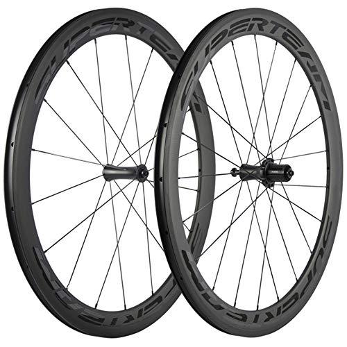SUPERTEAM 700C 50mm ロードバイク ーホイールセット 23mm クリンチャホイール R7 ハブ (透明な)