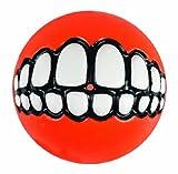 Rogz Fun Dog Treat Ball in various sizes and colors, Medium, Orange