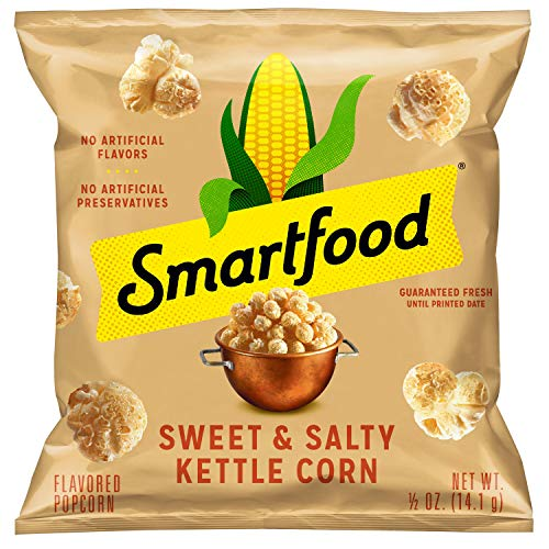 Smartfood Sweet & Salty Kettle Corn Flavored Popcorn, 0.5 Ounce (Pack of 40)