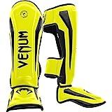 Venum Elite Standup Shinguards, Neon Yellow, Medium