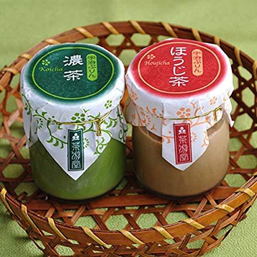 京都銘菓 茶游堂 宇治ぷりん 濃茶&ほうじ茶 4個入