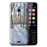 eSwish Gel TPU Hülle/Case für Nokia 230 / Verschneiten