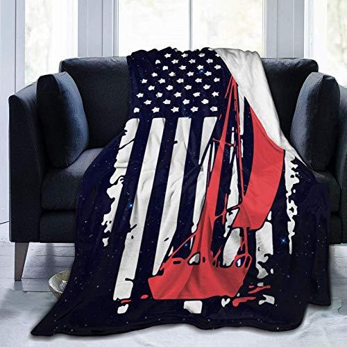 KNBNDB Amerikanische Flagge Segeldecke Soft Cosy Wearable Umhang für Erwachsene Kinderbett Couch 50x60 Zoll