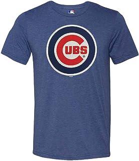 Chicago Cubs T-Shirt Men/'s Fanatics Baseball History Logo T-Shirt Blue New