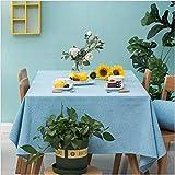 GuangDe Mantel Simple y Moderno de algodón y Lino Mantel de Color sólido nórdico Mantel Mantel de Estilo japonés Mesa de Centro Cubierta de Tela Paño-90X90Cm