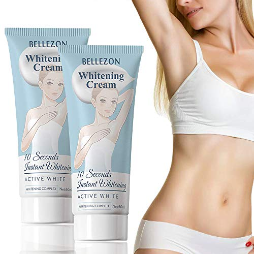 Saisze 2 Pack of Whitening Cream, Effective Skin Lightening and Bleaching Cream for Knees, Elbows, Armpit