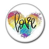 Broche de corazón arco iris de la paz y el amor esmalte Pins bolsa de la solapa Pin orgullo dibujos animados insignia...