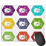 N\A Elección-Diagrama-Iconos-Set-Alfombrilla Antideslizante, Alfombrilla para Oficina y hogar
