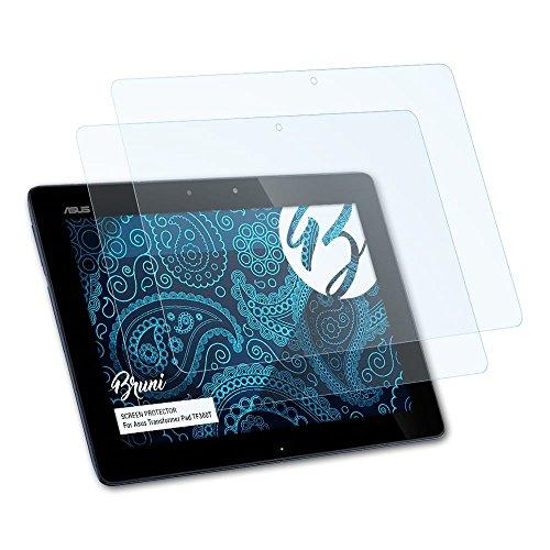 Bruni Schutzfolie kompatibel mit Asus Transformer Pad TF300T Folie, glasklare Bildschirmschutzfolie (2X)