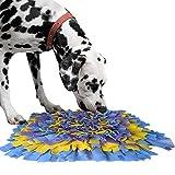 IEUUMLER Snuffle Mat para Perros Estera de alimentación Estera de Entrenamiento Manta para la Nariz Juguete de Juego IE075 (45x45cm, Blue & Yellow & Purple)