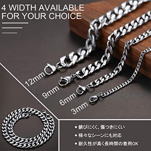 『ChainsHouse 65cm 12mm 6面カット 喜平 ネックレス チェーン メンズ シルバー ステンレス 金属アレルギー対応 アクセサリー』の4枚目の画像