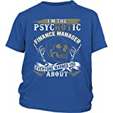 Finance Manager Baby Bodysuit, My Finance Manager T Shirt (S, Youth Tee - Blue)