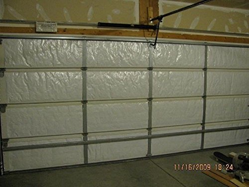 NASA Tech Reflective 2 Car White Foam Core Garage Door Insulation Kit 16Hx R7 Energy Star Rated/Increases R&E Value/Tax Credit