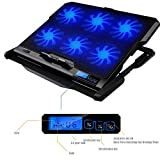 Volwco 6 Quiet Blue LED Fans Laptop Cooling Pad for...