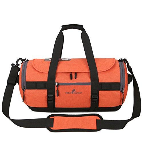 Bluelover Free Knight Multi-Fonctionnelle Grande Capacité Imperméable Oxford Tissu Sport Cylindre Gym Bag - Rouge Orange