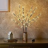 EAMBRITE 3er Set Lichterbaum Aussen Innen 60LEDs Wasserdichte Lichterzweige 76CM Warmweißes...