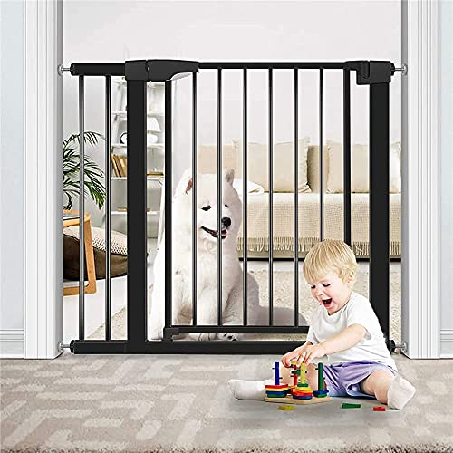 DyAn Wide Stair Gate Pressure Fit, Portable Pet Gate: Expands & Locks In Place With No Tools. NO Drilling Pressure Mounted. Fits 37.8'- 40.6' Wide(Black)