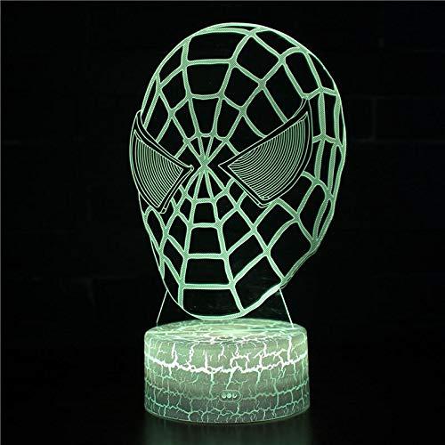 3D LED Tischlampe Acryl Schlafzimmer Nachtlicht Kinder Geschenk Dekoration Hollywood Film Charakter Mann Superheld Superpower Spider