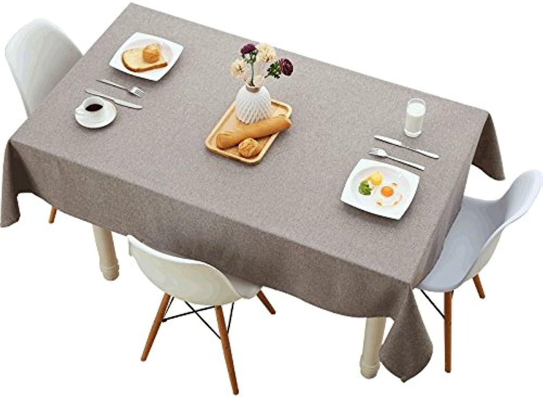 Woo.L.L Grau Farbe einfache Tischdecke,Tuch Baumwolle und Leinen home wasserdicht Western Esszimmer rechteckige Tischdecke,9090cm. B076WL59PH Rich-pünktliche Lieferung   Rabatt